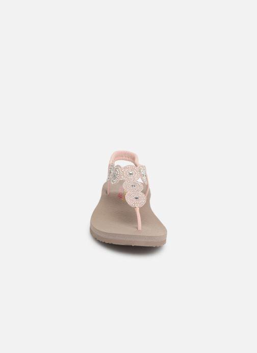 Sandalen Skechers Mediatation Stars & Sparkle rosa schuhe getragen
