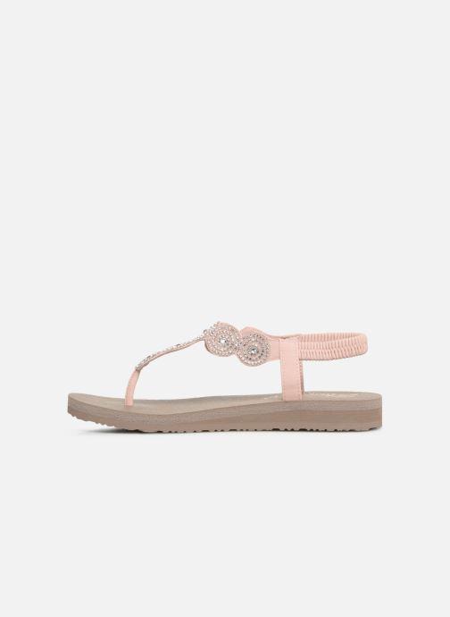 Sandalen Skechers Mediatation Stars & Sparkle rosa ansicht von vorne