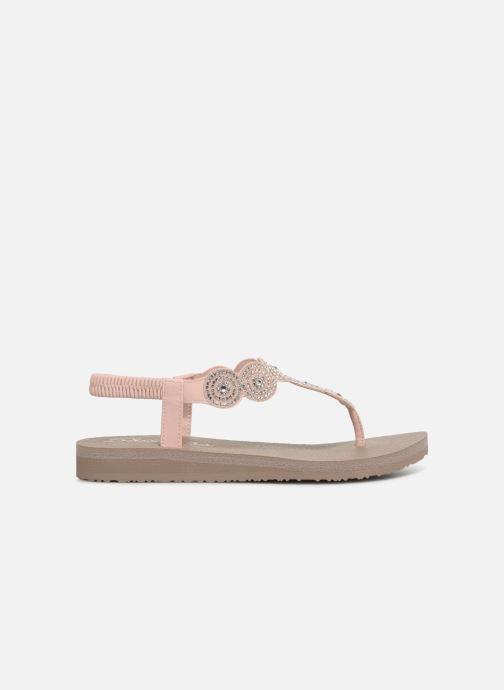 Sandalen Skechers Mediatation Stars & Sparkle rosa ansicht von hinten