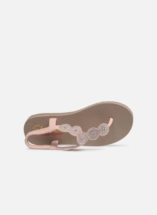 Sandales et nu-pieds Skechers Mediatation Stars & Sparkle Rose vue gauche