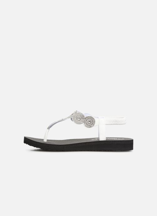 Sandales et nu-pieds Skechers Mediatation Stars & Sparkle Blanc vue face