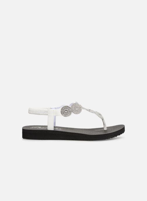 Sandales et nu-pieds Skechers Mediatation Stars & Sparkle Blanc vue derrière