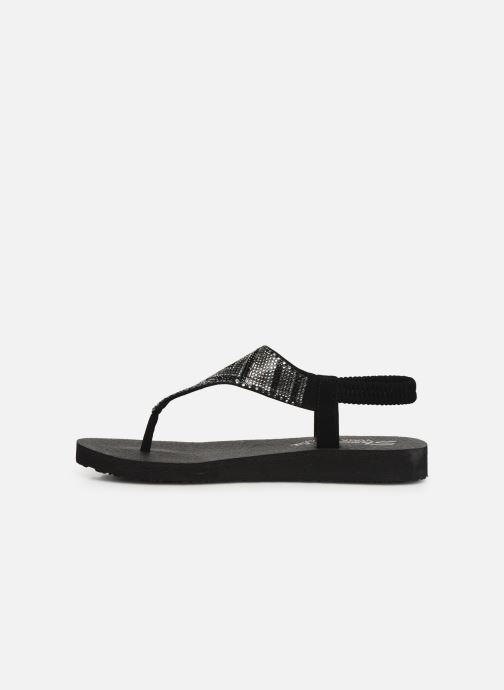 Sandales et nu-pieds Skechers Maditation Gypsy Glam Noir vue face