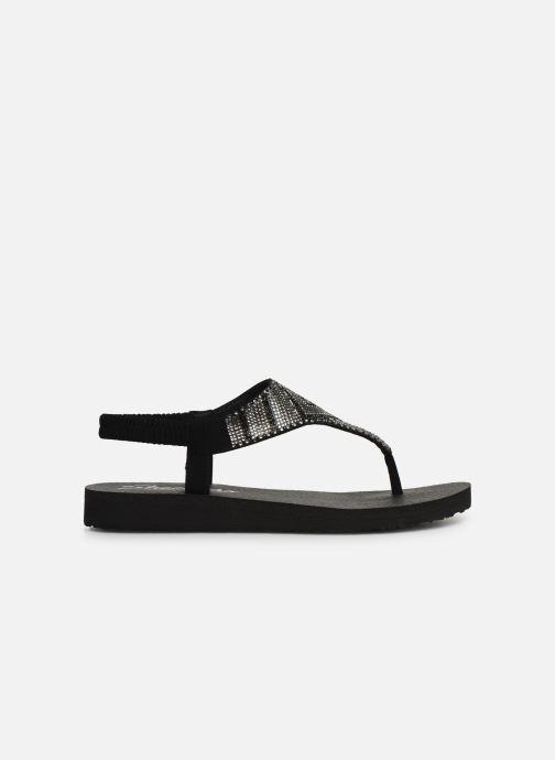 Sandales et nu-pieds Skechers Maditation Gypsy Glam Noir vue derrière