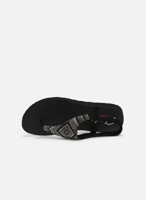 Sandales et nu-pieds Skechers Maditation Gypsy Glam Noir vue gauche
