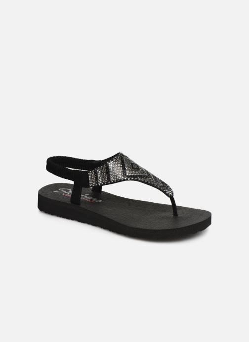 Sandals Skechers Maditation Gypsy Glam Black detailed view/ Pair view