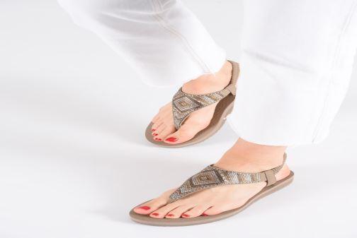 Sandales et nu-pieds Skechers Maditation Gypsy Glam Gris vue bas / vue portée sac