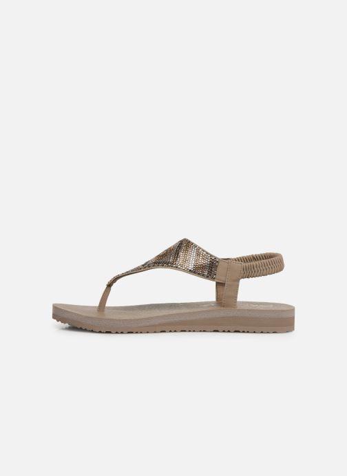 Sandales et nu-pieds Skechers Maditation Gypsy Glam Gris vue face