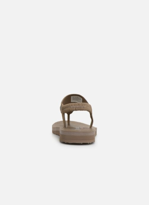 Sandales et nu-pieds Skechers Maditation Gypsy Glam Gris vue droite