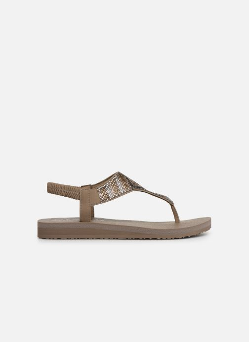 Sandales et nu-pieds Skechers Maditation Gypsy Glam Gris vue derrière