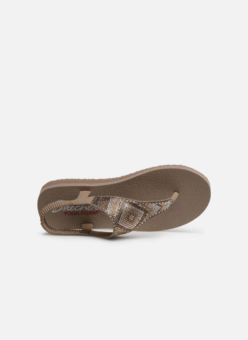 Sandales et nu-pieds Skechers Maditation Gypsy Glam Gris vue gauche