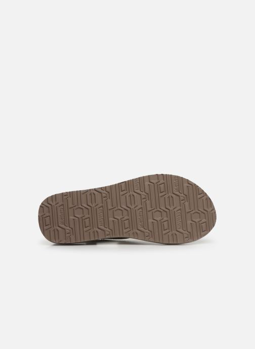 Sandales et nu-pieds Skechers Maditation Gypsy Glam Gris vue haut