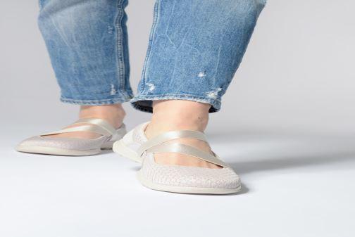Bailarinas Skechers Go Walk Lite Negro vista de abajo