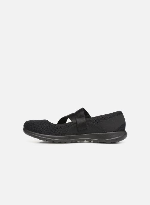 Bailarinas Skechers Go Walk Lite Negro vista de frente