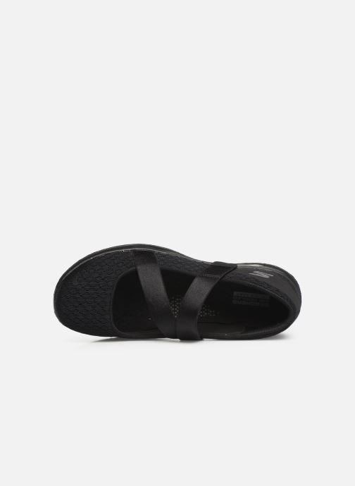 Bailarinas Skechers Go Walk Lite Negro vista lateral izquierda
