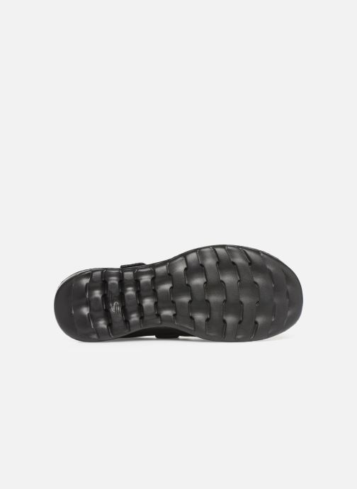 Bailarinas Skechers Go Walk Lite Negro vista de arriba