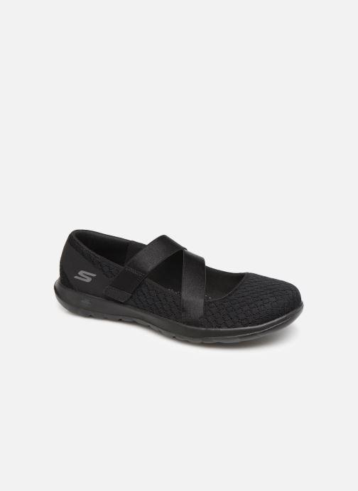 Bailarinas Skechers Go Walk Lite Negro vista de detalle / par