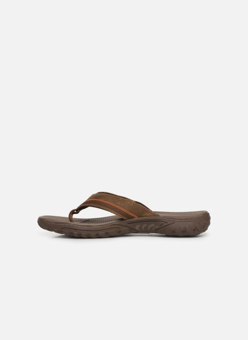 Tongs Skechers Reggae Cobano Marron vue face