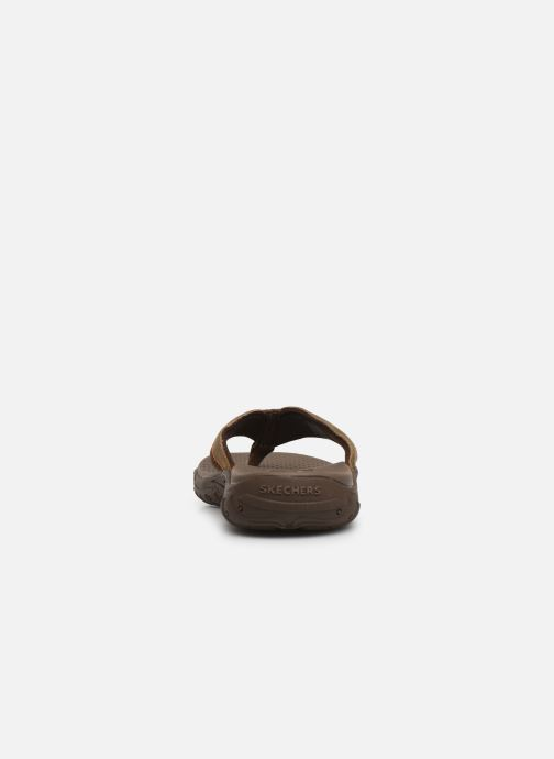 Flip flops Skechers Reggae Cobano Brown view from the right