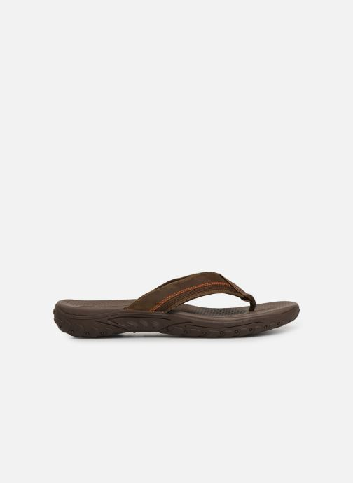 Flip flops Skechers Reggae Cobano Brown back view
