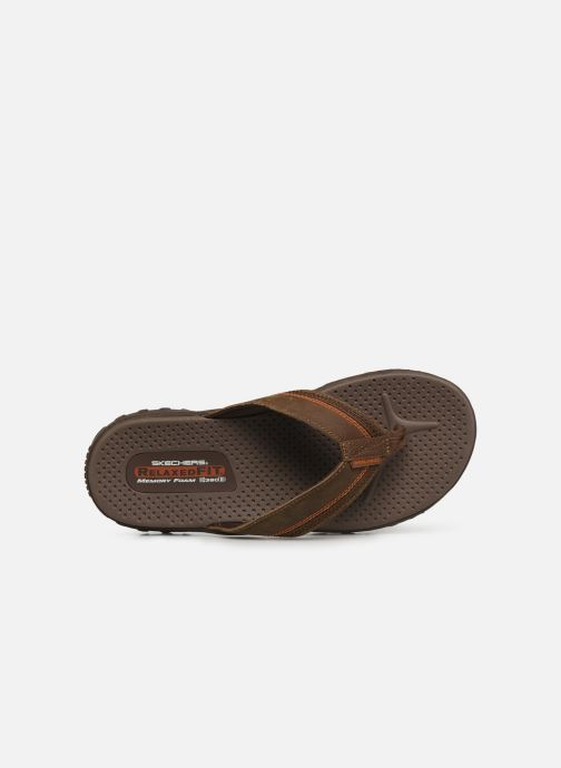 Flip flops Skechers Reggae Cobano Brown view from the left