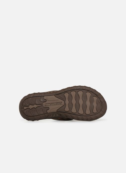 Flip flops Skechers Reggae Cobano Brown view from above