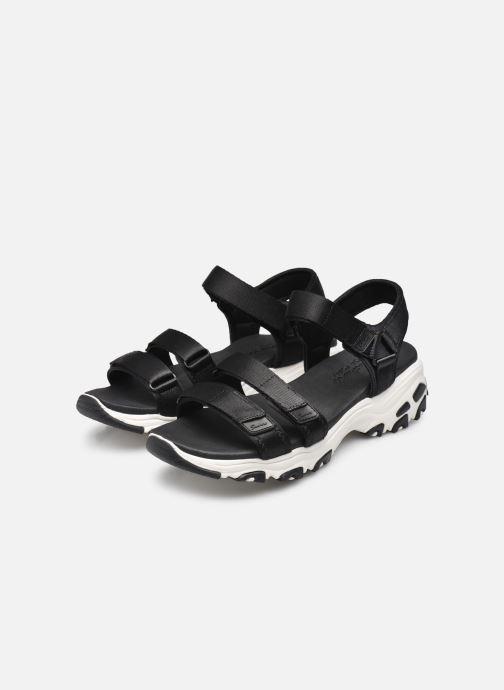 Sandalias Skechers D'Lites Fresh Catch Negro vista de abajo