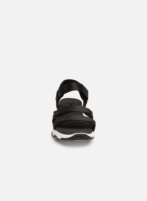 Sandalen Skechers D'Lites Fresh Catch schwarz schuhe getragen