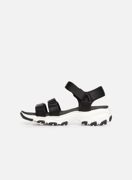Sandalias Skechers D'Lites Fresh Catch Negro vista de frente
