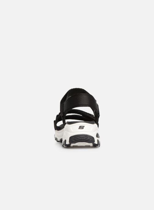 Sandalias Skechers D'Lites Fresh Catch Negro vista lateral derecha