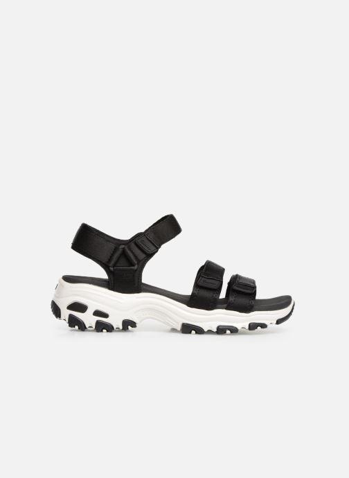 Sandales et nu-pieds Skechers D'Lites Fresh Catch Noir vue derrière