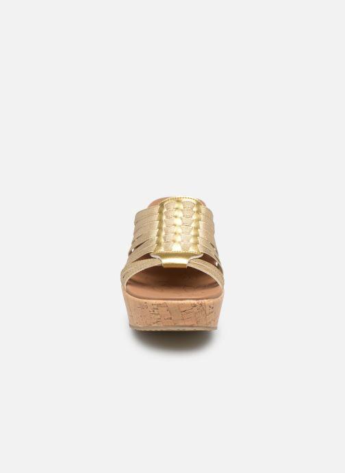 Mules et sabots Skechers Brit Girl Wonder Or et bronze vue portées chaussures