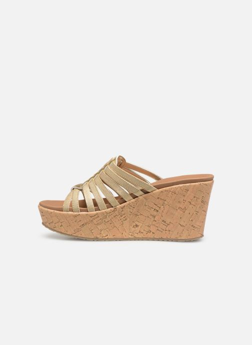 Wedges Skechers Brit Girl Wonder Goud en brons voorkant