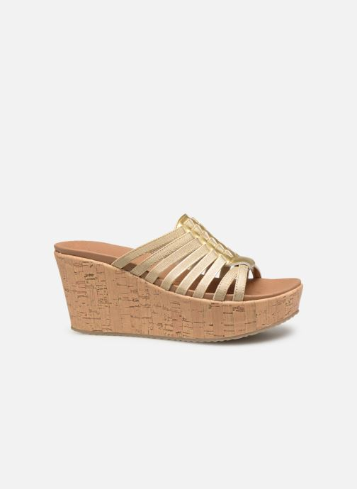 Wedges Skechers Brit Girl Wonder Goud en brons achterkant