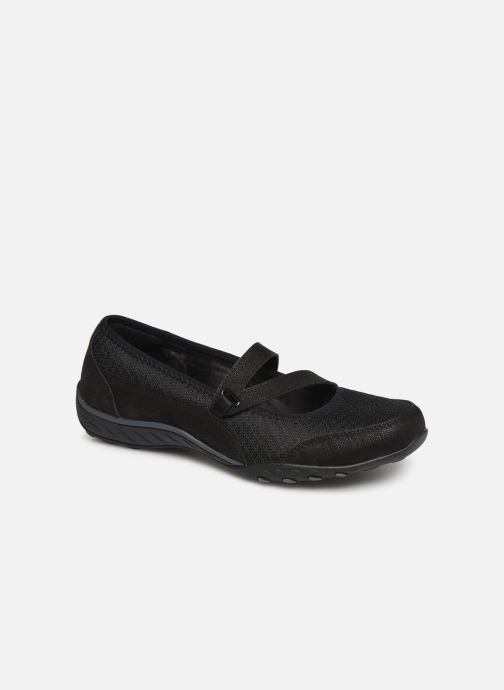 Ballet pumps Skechers Breath Easy Black detailed view/ Pair view