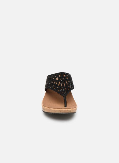 Clogs & Pantoletten Skechers Beverlee Summer Visit schwarz schuhe getragen