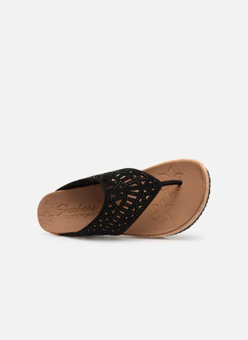 Clogs & Pantoletten Skechers Beverlee Summer Visit schwarz ansicht von links