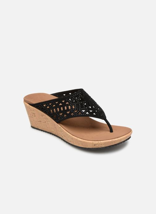 Wedges Skechers Beverlee Summer Visit Zwart detail