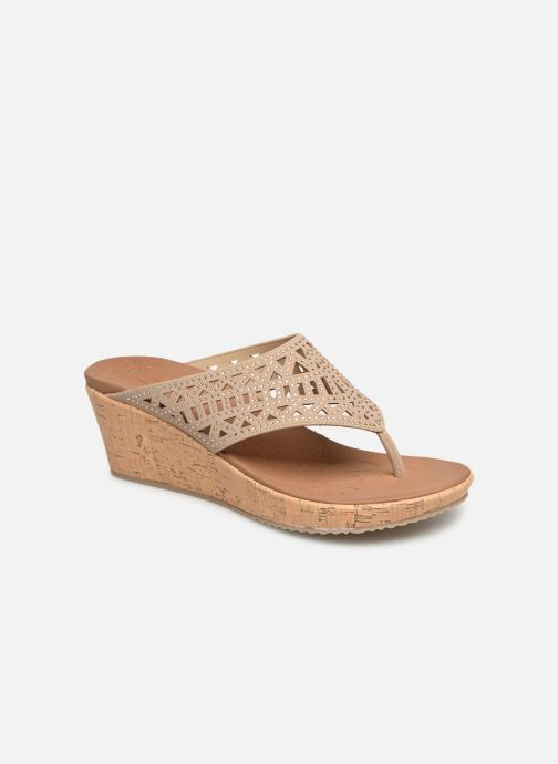 Wedges Skechers Beverlee Summer Visit Beige detail