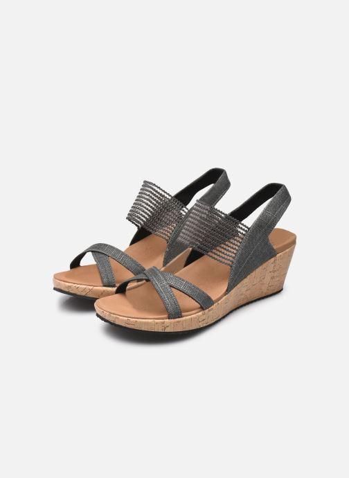 Sandales et nu-pieds Skechers Beverlee High Tea Gris vue bas / vue portée sac