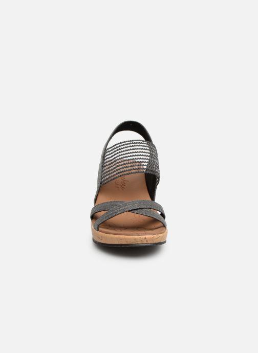 Sandalen Skechers Beverlee High Tea grau schuhe getragen