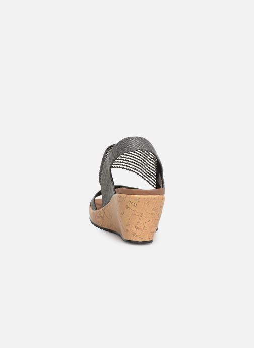 Sandales et nu-pieds Skechers Beverlee High Tea Gris vue droite