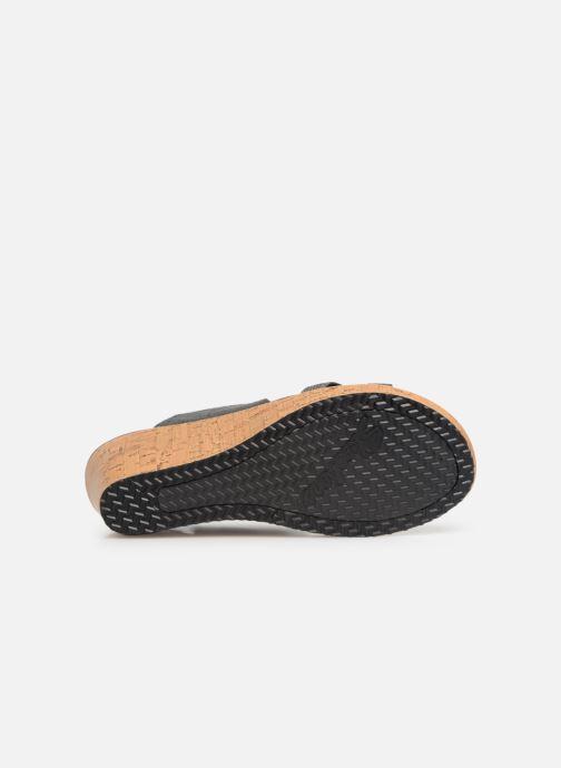 Sandales et nu-pieds Skechers Beverlee High Tea Gris vue haut