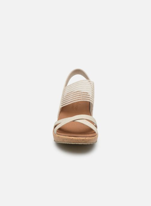 Sandals Skechers Beverlee High Tea White model view