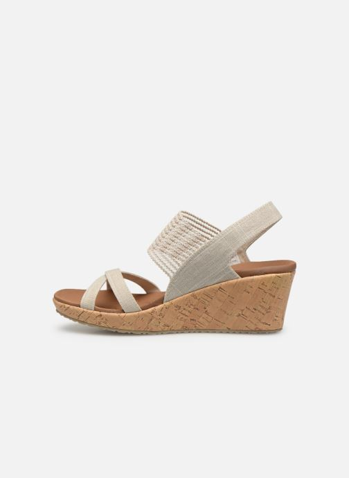 Sandales et nu-pieds Skechers Beverlee High Tea Blanc vue face