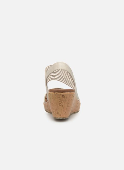 Sandalias Skechers Beverlee High Tea Blanco vista lateral derecha