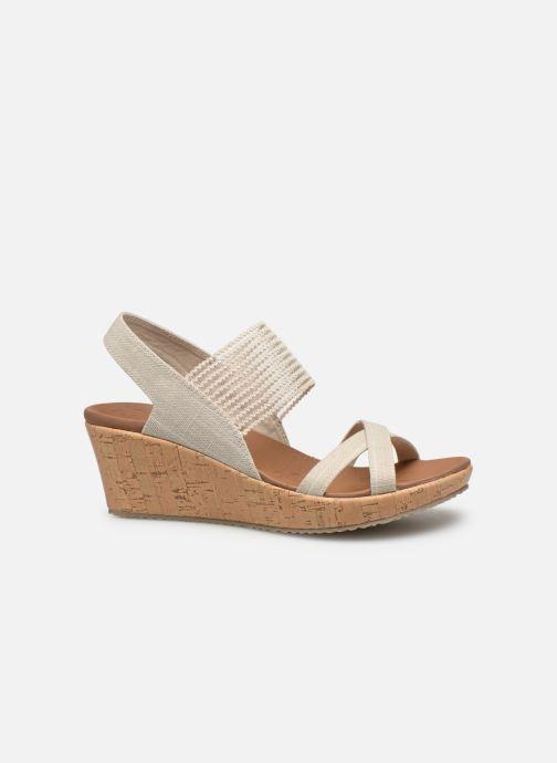 Sandali e scarpe aperte Skechers Beverlee High Tea Bianco immagine posteriore