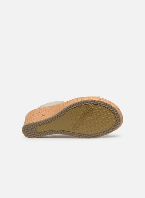 Sandales et nu-pieds Skechers Beverlee High Tea Blanc vue haut
