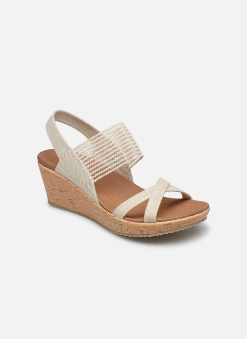 Sandales et nu-pieds Skechers Beverlee High Tea Blanc vue détail/paire