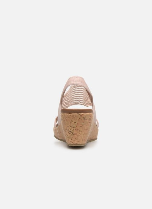 Sandalias Skechers Beverlee High Tea Rosa vista lateral derecha